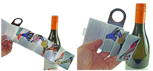Mini Brochure Bottle Foldilocks -Versatile Drinks Marketing