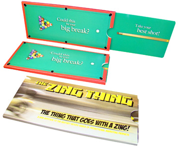 Springing into Action Direct Mail Maketing Idea - Zing Thing Grabs Attention