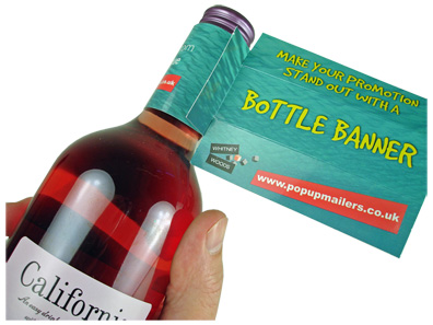 Bottle Banners - Bottle Display Advertising Ideas