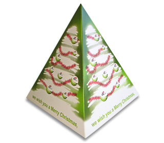 Pop up Pyramids - Perfect for Business to Business Christmas Greetings