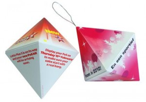 Pop up Diamond - One of the Pop up Gems range for Corporate Festive Greetings