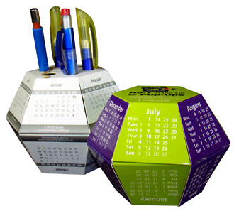 Pop up Desk Calendars Aim High and Score Well for Visual Marketing