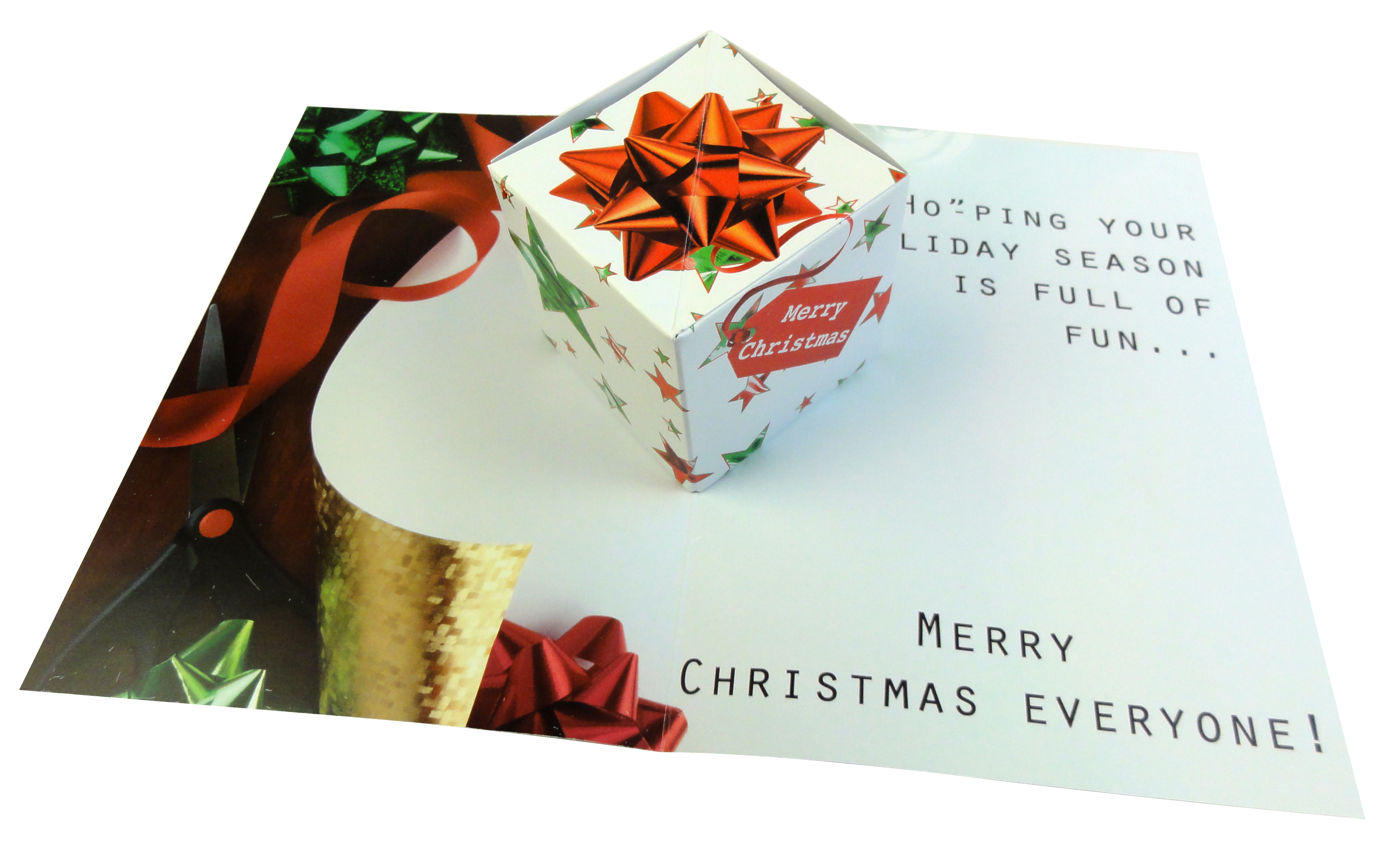 Popupmailers christmas comes but once a year time for business business to business corporate greeting with extra power 3d pop up cube card m4hsunfo