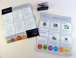 A Little Big Card - Foldaway Booklet/Mini Brochure - Ideal for Trade Shows and Road Shows