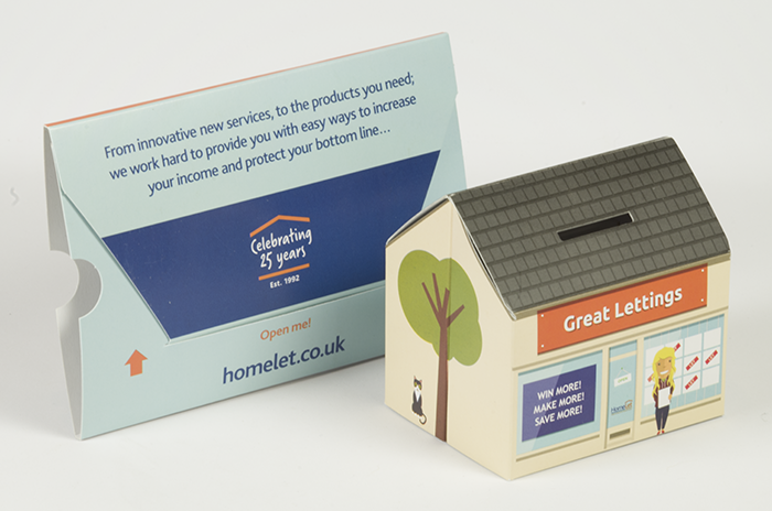 Pop up house shaped promotion