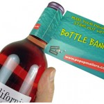 Printed Wine Collars and Bottle Display Advertising Ideas